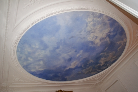 Trompe l oeil plafond meilleures images d 39 inspiration for Peinture faux plafond